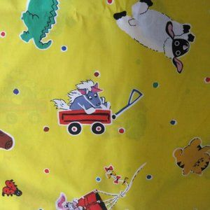 "Vintage Kid's Children's Fabric 110"" wide"